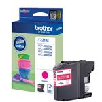 CARTUCCIA BROTHER LC221M LC-221M (260 PAGINE) MAGENTA - ORIGINALE