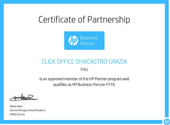 rivenditore-hp-buiness-partner-Certificate-2019