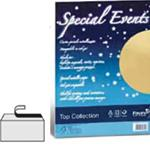 CARTA COLORATA FAVINI METALLIZ. SPECIAL EVENTS 250GR A4 10FG AZZURRO 02 A69T174