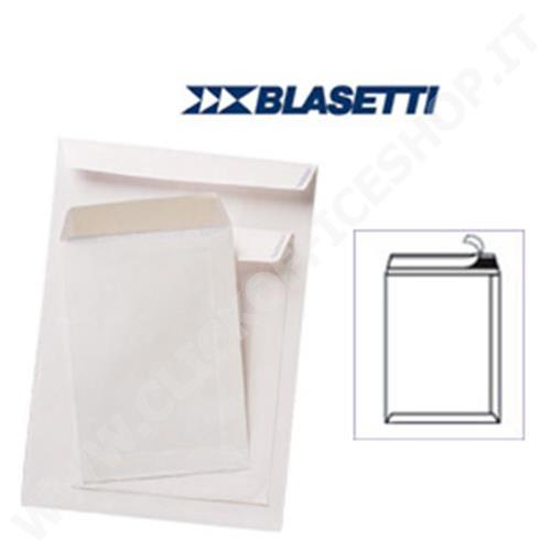 BUSTE A SACCO BLASETTI 25PZ BIANCHE 250X353MM 80GR C/STRIP SELF 538