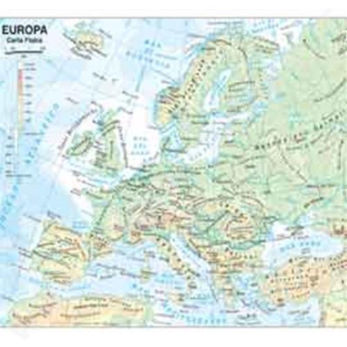 Cartina Europa.Cartina Geografica Europa Belletti Scolastica Plastificata 297x420mm Bs03p