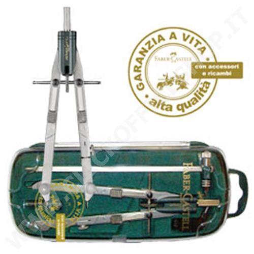 Compasso balaustrone tech aste snodabili Faber Castell lunghezza 168 mm 174607